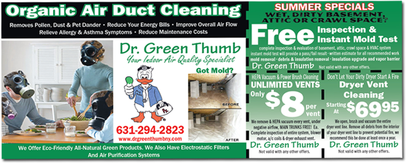 Organic Air Duct Cleaning Long Island